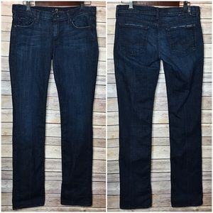 👖 7 FOR ALL MANKIND Straight Leg Dark Jeans 30 👖